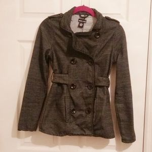 Dark Gray Double Breasted Jacket
